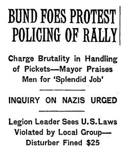 Bund Foes Protest